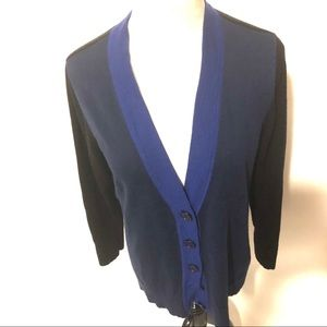 Coldwater black and blue sweater size medium